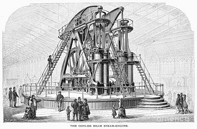 Corliss Steam Engine, 1876 Art Print by Granger