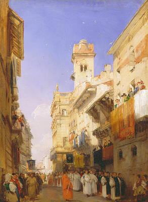 Verona Painting - Corso Sant'anastasia, Verona by Richard Parkes Bonington