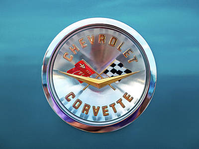 Digital Art - Corvette Badge by Douglas Pittman