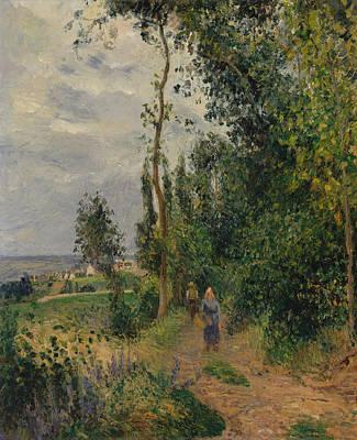 Cote Des Grouettes, Near Pontoise Art Print by Camille Pissarro
