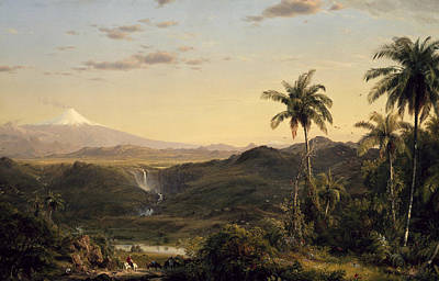 South American Painting - Cotopaxi by Frederic Edwin Church