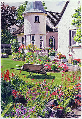 Painting - Country House by David Lloyd Glover