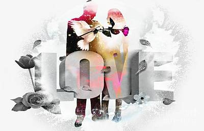 Couple Mixed Media - Couple In Love  by LDS Dya