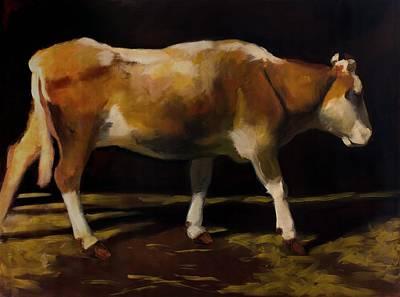 Steer Painting - Cow by Robert Nizamov