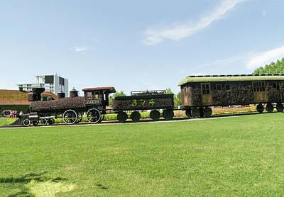 Gatineau Park Photograph - Cpr Train 374 2 by Bob Corson