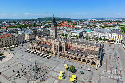 Photograph - Cracow, Poland. Old Town Market Square And Cloth Hall by Michal Bednarek