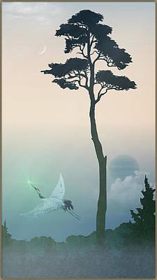 Digital Art - Crane by Harald Dastis