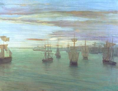 Whistler Painting - Crepuscule In Flesh Colour And Green by James Abbott