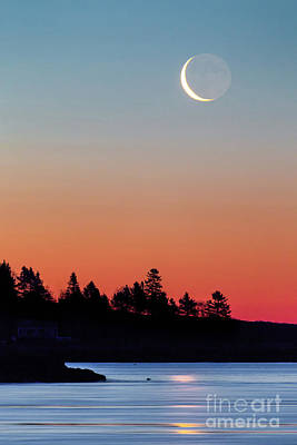 Maine Landscape Photograph - Crescent Moon by Benjamin Williamson