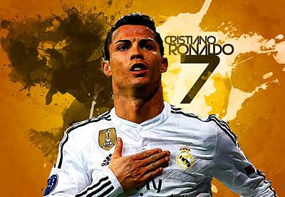 Bale Digital Art - Cristiano Ronaldo by Semih Yurdabak