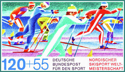 Cross-country Skiing Art Print