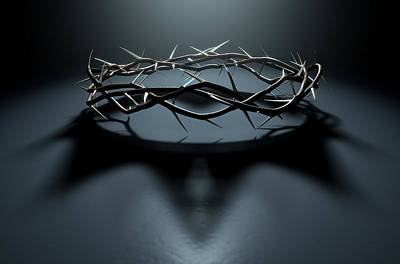 Jesus Digital Art - Crown Of Thorns With Royal Shadow by Allan Swart