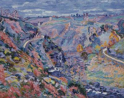 Crozant Landscape Art Print