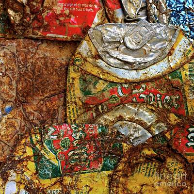 Several Photograph - Crushed Beer Cans. by Bernard Jaubert