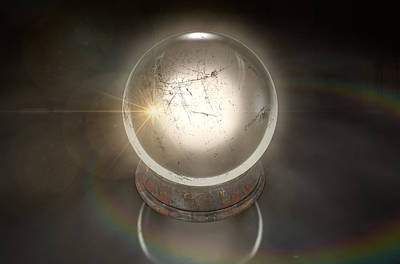 Ball Digital Art - Crystal Ball Glowing by Allan Swart