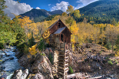 Photograph - Crystal Mill by Steve Stuller
