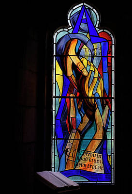 Photograph - Culross Abbey - Stained Glass by Jeremy Lavender Photography