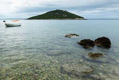 Photograph - Cunski Beach And Coastline, Losinj Island, Croatia by Ian Middleton