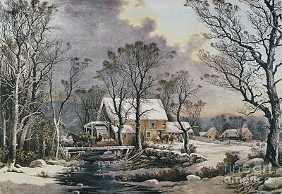 Photograph - Currier & Ives: Winter Scene by Granger