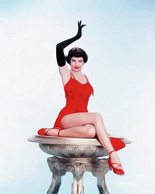 Painting - Cyd Charisse, Vintage Movie Star by John Springfield