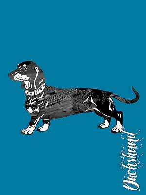 Dachshund Mixed Media - Dachshund Collection by Marvin Blaine
