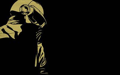 Curve Digital Art - Daft Punk by Super Lovely