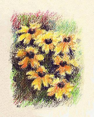 Daisies Drawing - Daisies by Rachel Christine Nowicki