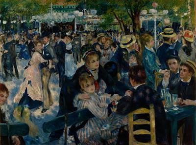 Painting - Dance At Le Moulin De La Galette by Auguste Renoir
