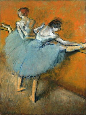Dancers At The Barre Art Print by Edgar Degas
