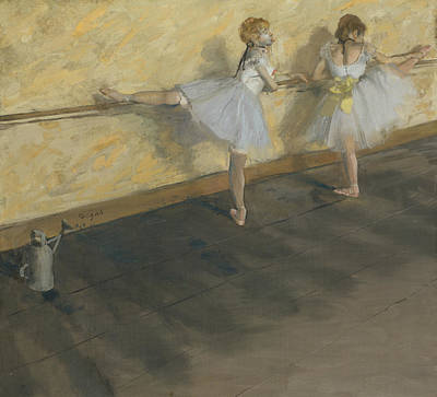 Painting - Dancers Practicing At The Bar by Edgar Degas