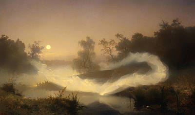 Mystical Landscape Painting - Dancing Fairies by Mountain Dreams