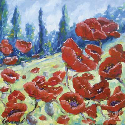 Dancing Poppies Art Print by Richard T Pranke