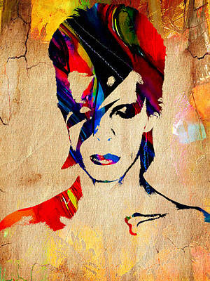 Mixed Media - David Bowie by Marvin Blaine