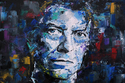 Mars Black Painting - David Bowie by Richard Day