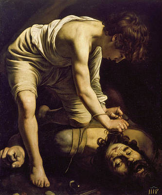 Michelangelo Painting - David With The Head Of Goliath by Caravaggio