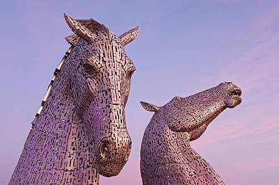 Photograph - Dawn At The Kelpies by Stephen Taylor
