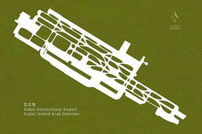 Global Design Shibori Inspired - DXB Dubai International Airport in Dubai United Arab Emirates Ru by Jurq Studio