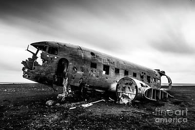 Wall Art - Photograph - Dc3 Plane Crash... by Sebastien Coell