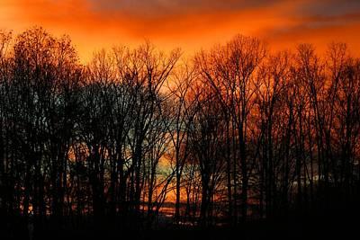 Photograph - December Sunset by Kathryn Meyer