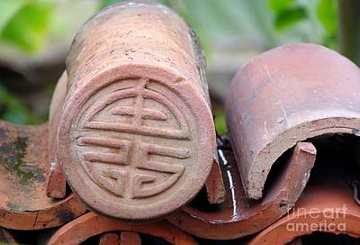 Photograph - Decorated Traditional Chinese Roof Tiles by Yali Shi