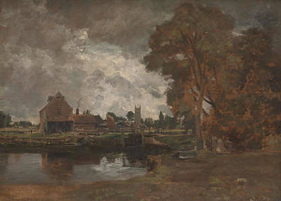 Dedham Painting - Dedham Lock And Mill by John Constable