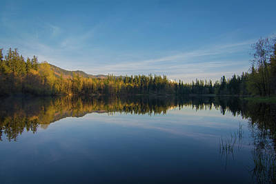 Deep River County Park Photograph - Deep Lake, Late Afternoon by Rich Leighton