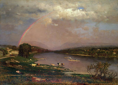 Rainbow Painting - Delaware Water Gap by George Inness
