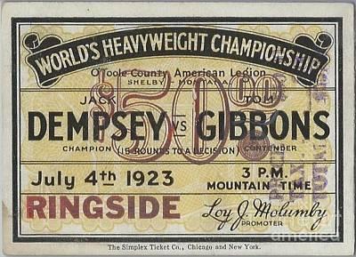 Dempsey Vs Gibbons Original by Dennis ONeil