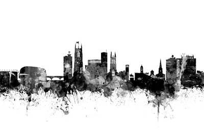 Derby England Skyline Art Print