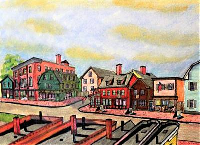Drawing - Derby Street Salem by Paul Meinerth