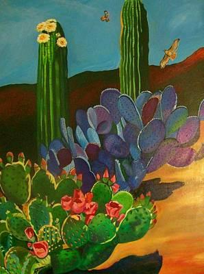 Painting - Desert Bloom by Kathleen Heese