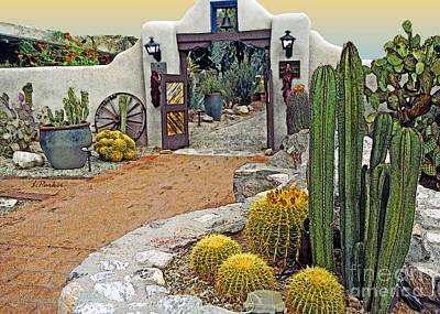 Tucson Digital Art - Desert Garden  by Linda  Parker