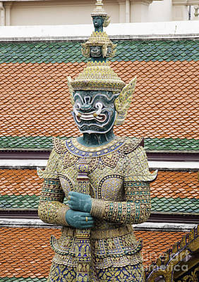 Namaste With Pixels Royalty Free Images - Detail from a Buddhist temple in Bangkok Thailand Royalty-Free Image by Anthony Totah