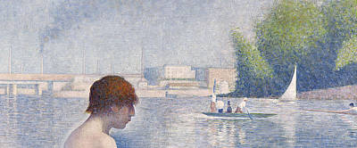 Seurat Painting - Detail From Bathers At Asnieres by Georges Pierre Seurat
